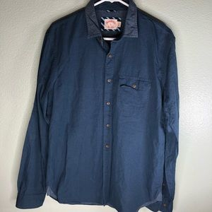 Brooks brothers casual shirt men size large blue